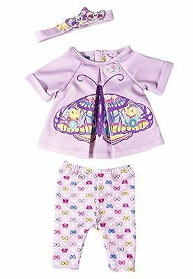 Zapf Creation baby Born Butterfly Lilac Doll Outfit With Hanger