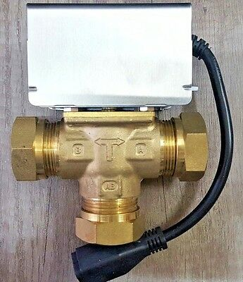 3 Port Mid Position Motorised Zone Valve 28mm Replaces Honeywell V4073A1088 ZVMC
