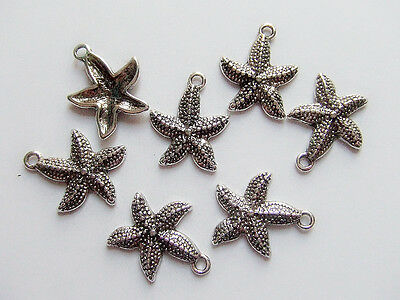 5pz charms sea star stella marina  color argento tibet 22x19mm