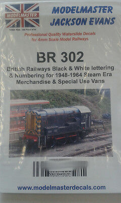 B.R. 1948-1965 Vans & closed mechandise wagons Transfers Modelmaster MMBR302 L1