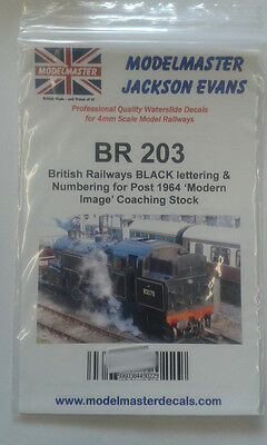 Letters & Numbers Decals for BR 1980s-90s Coaching stock Modelmaster MMBR203 L1