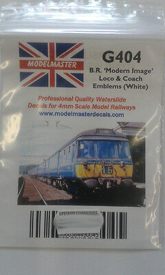 18 Pairs of white Double Arrow emblems for Locos & Coaches Modelmaster MMG404 L1