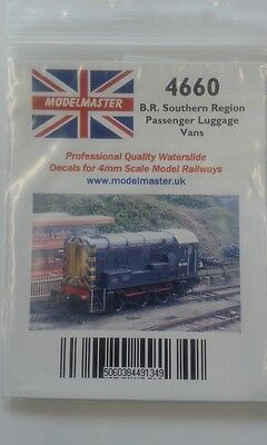 Decals for 1948-65 BR wooden bodied 12T ventilated vans Modelmaster MM4660 L1