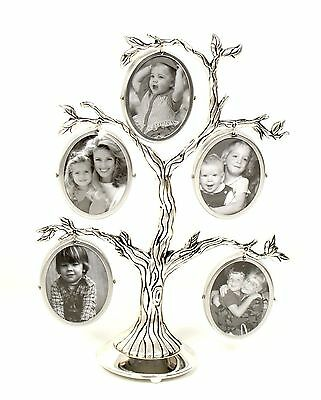 Family Tree Picture Silver Plated Family Photo Frame Gift Present Home Decore