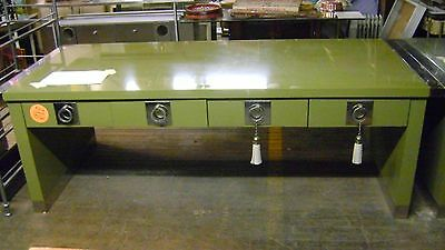 Cole Haan Olive Green Retail Merchandise 8 Drawer Display Table