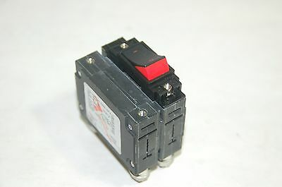 Carling 80A 2 Pole Circuit Breaker Cd2-B0-34-680-6F4-C Rocker Lever Flush