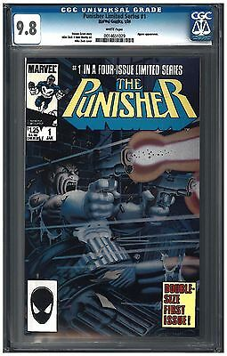 Punisher Limited Series SET #1, #3, #4 CGC 9.8 (1/86) Marvel Comics white pages