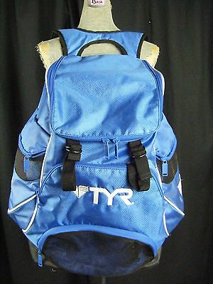 Pre-Owned TYR Blue/White Swim Alliance Backpack 30L