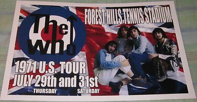 The Who 1971 U.s.tour Replica Concert Poster W/top Loader
