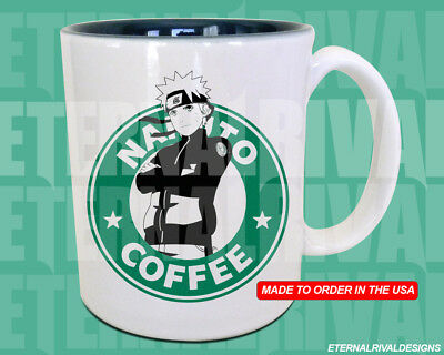 Naruto Starbucks Anime Manga Japanese Insipred Cartoon Geek Nerd Mug