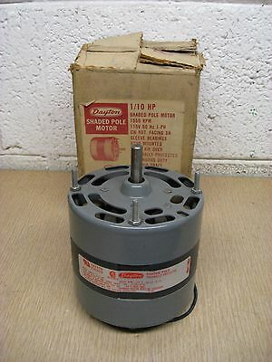 New Dayton 3M574 1/10HP 1550RPM 115V Shaded Pole HVAC Motor Free Shipping