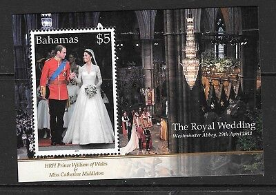 Bahamas Sgms1587 2011 Royal Wedding Mnh