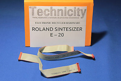 Roland E 20 -Set Of Ribbon Keyboard Cables - Juego De Cables Teclado   - Tested