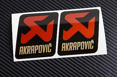 AKRAPOVIC exhaust metallic gold decals stickers 2 pcs HEAT PROOF!