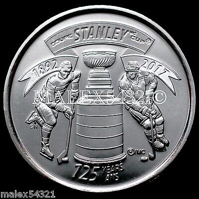 Canada 2017 - 125Th Anniversary Of Stanley Cup 25 Cents Uncirculated (1 Coin)
