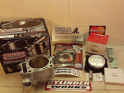 CYLINDER WORKS W/ WISECO PISTON KIT! 02-08 honda crf450 crf450r crf 450r top end