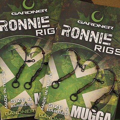 Gardner Ronnie Rig Barbed Size 4 & 6 Barbed & Barbless Carp Coarse Fishing