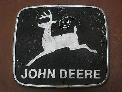Vintage John Deere Logo Decal  Metal & Black sign, plate, advertiser
