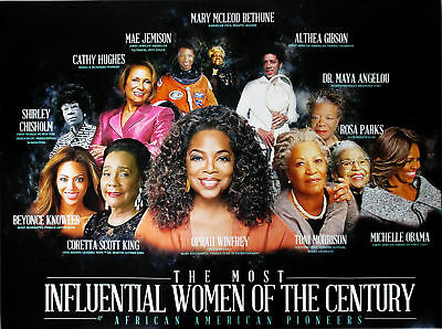 Famous Black Women Poster African American History Most Influential People 18x24