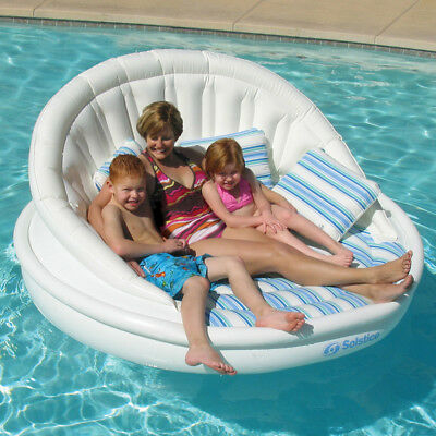 "Solstice Swimming Pool Lake 81"" Giant Aqua Sofa Lounge Float"