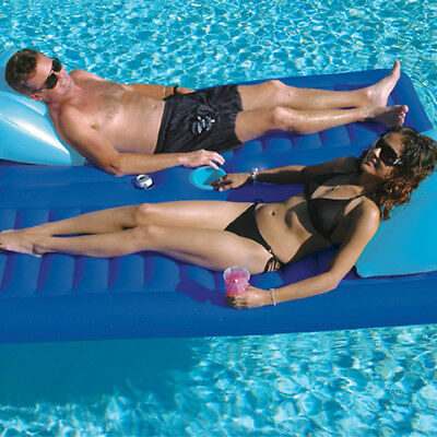 "Solstice 79""L x 65""W Swimming Pool Lake Face-2-Face 2 Person Lounger Float"