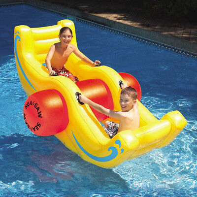 "Swimline 90""L Swimming Pool Sea Saw Rocker Inflatable Float"