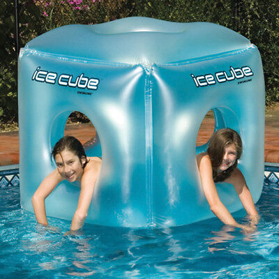 "Swimline 49"" Giant Ice Cube Swimming Pool Inflatable Float"