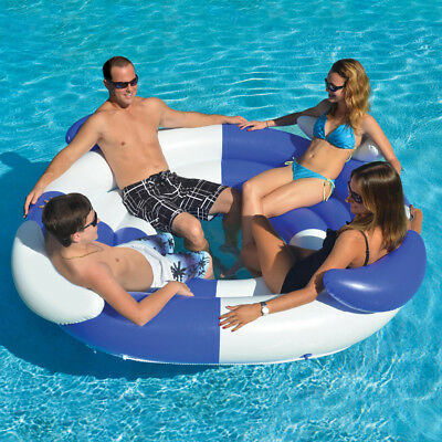 "Swimline 78"" Swimming Pool 4 Person Sofa Island Lounger Inflatable Float"