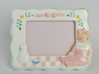 Ceramic Picture Frame For Baby Or Little Girl's Room ~ By Charpente