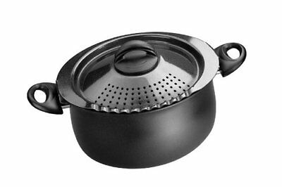 Bialetti 7265 Trends Collection 5 Quart Pasta Pot, Charcoal New