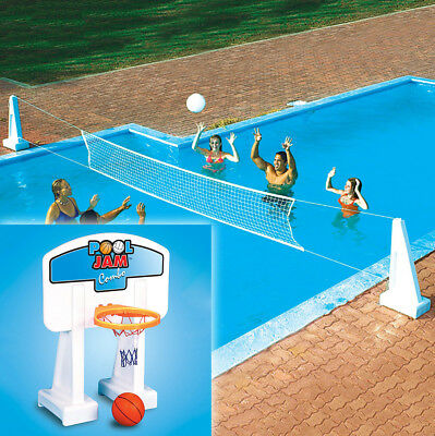 Swimline Pool Jam Inground Basketball & Volleyball Swimming Pool Combo