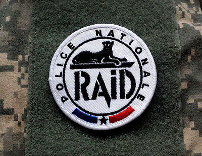 RAID POLICE NATIONALE FRANCE embroidered Tactical Patch Iron Sew On