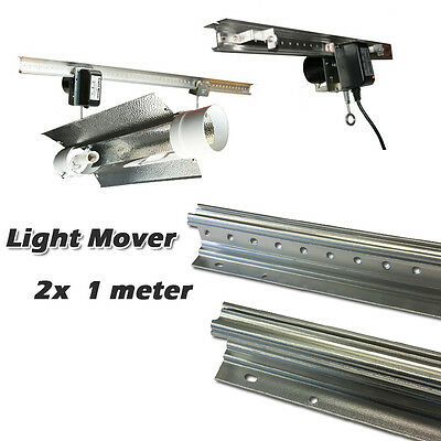 Hydroponics Indoor Automated HPS/MH LED Grow Light Reflector Mover Kit Pick Up