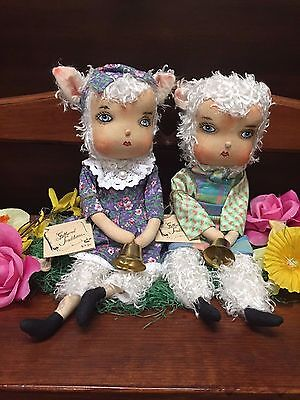 Joe Spencer Gathered Traditions Lillibeth Lamb and  Lowell Lamb (Set of 2)