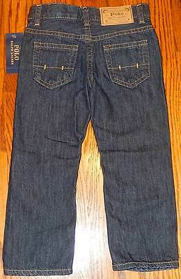 POLO RALPH LAUREN ORIGINAL TODDLERS/KIDS BOYS BRAND NEW JEANS Size 6T, NWT