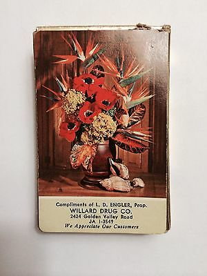 Old Advertising Deck of Play Cards for Drug Store Minneapolis MN 1950's