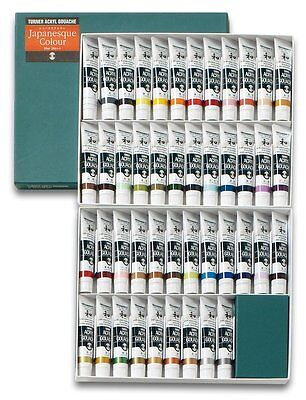 Turner Acryl Gouache Japanesque 45 Color Set 20 ml Tubes Free shipping New