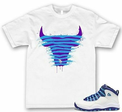 Charlotte City Pack Sneaker Tee T shirt Jordan Retro 10 X Brand New S-3XL