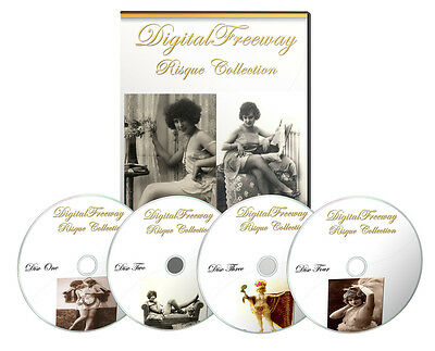 100,000 Vintage Victorian Risque Postcard Nude Photos/Images 4 DVDs In DVD Case
