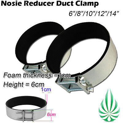 Noise Reducer Clamp Fan Ducting Clamp Connector Joiner Room Ventilation Muffler