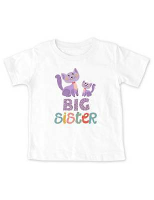Big Sister Cats design2 Baby birth pregnancy Infant Toddler Shirt