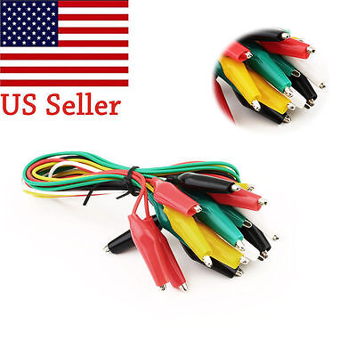 """100pcs Double-ended Test Leads Alligator Crocodile Roach Clip Jumper Wire 15.55"""""""