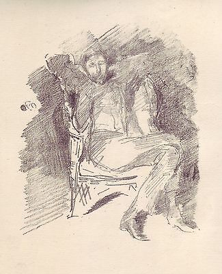 Original Lithograph - Portrait of JOSEPH PENNELL 1898 by JAMES A. M. WHISTLER