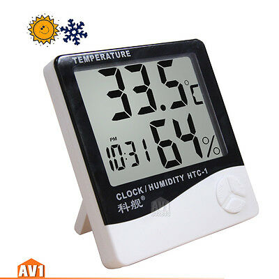 Brand Digital Thermometer. Temperature Humidity Meter desktop indoor with memory