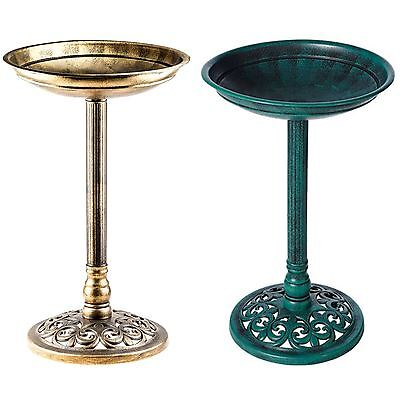 Traditional Bird Bath Pedestal Water Weather proof Table Outdoor Garden Ornament