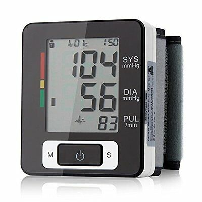 Automatic Digital Wrist Blood Pressure Monitor Heart Beat Upper LCD Counter New