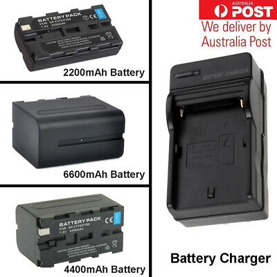 Battery + Charger for Sony NP-F550 NP-F750 NP-F970 YONGNUO YN360 YN900 YN300 AU