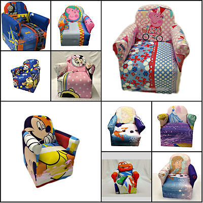 Multi Disney Character Children Kids Cartoon Chairs Armchairs Sofa Play/bedroom