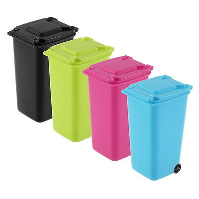 Mini Wheelie Bin Desk Tidy Office Desktop Stationery Organiser Pencil Holder  O5