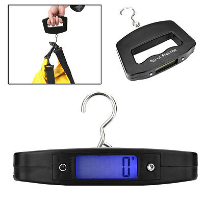 Portable 50KG/10G LCD Digital Fish Hook Hanging Weighing Scale Portable